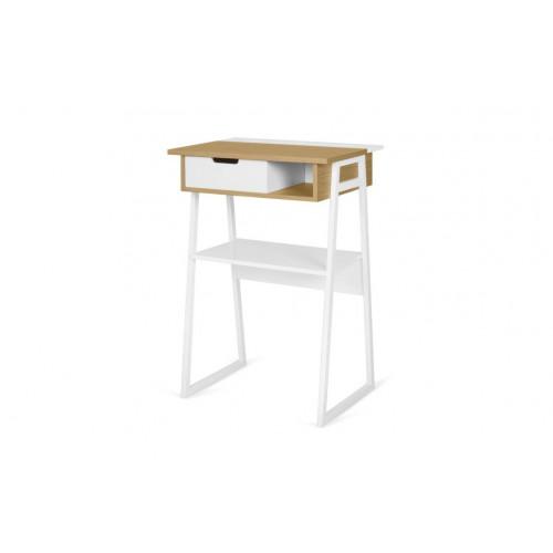 Space Standing Desk   Oak & White