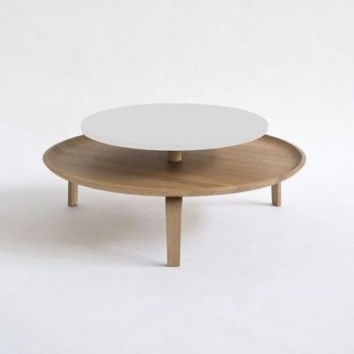 Large Secreto Coffee Table | Natural/White