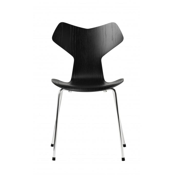 Chaise Grand Prix Chêne Coloré   Noir