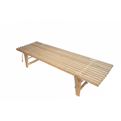 Outdoor EcoDaybed Larch   Light Wood