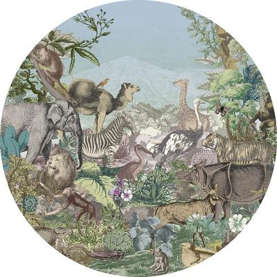 Runde Fototapete Animal Kingdom  | Mehrfarbig