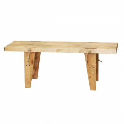 Outdoor EcoBench 120 Birch Oiled   Light Wood