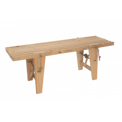 Outdoor EcoBench 120 Larch   Light Wood