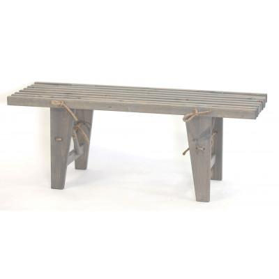 Outdoor EcoBench 120 Pine Wood   Grey