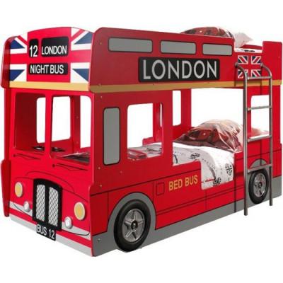London Bus Etagenbett 90 x 200 cm   Rot