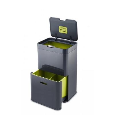 Intelligenter Abfallbehälter Totem 48L | Graphite Grau
