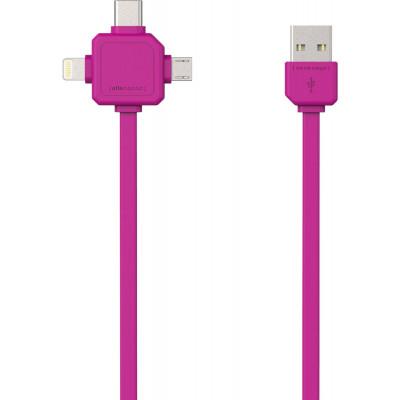 Strom-USB-Kabel | Rosa