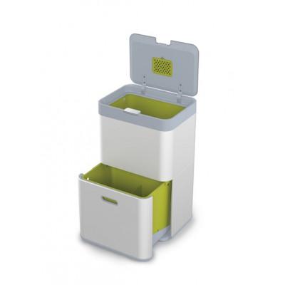 Intelligenter Abfallbehälter Totem 48L | Silber