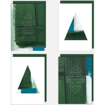 Weihnachtskarten 4er-Set   Jolly Green