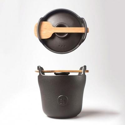 Keramik-Reiskocher | Schwarz