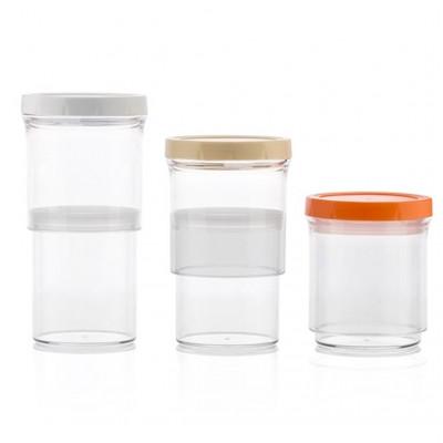 3-er Set Größenverstellbare Behälter