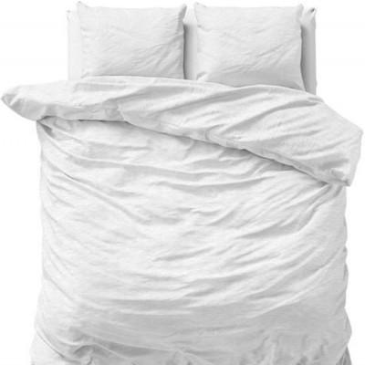 Bettbezug Stein Gewaschen   Weiß