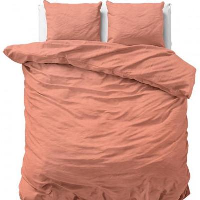 Bettbezug Stein Gewaschen | Pink