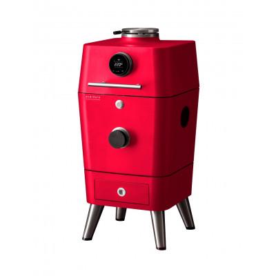 Holzkohlegrill 4K | Rot
