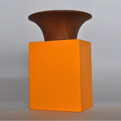 Universal Smartphone-Verstärker | Orange/Mahagoni