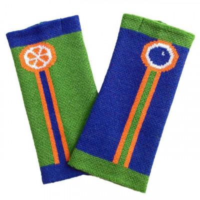 Fingerlose Handschuhe   Grün & Blau