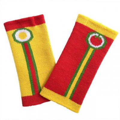 Fingerlose Handschuhe   Gelb & Rot