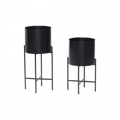 2-er Set Pflanzenhalter | Schwarz