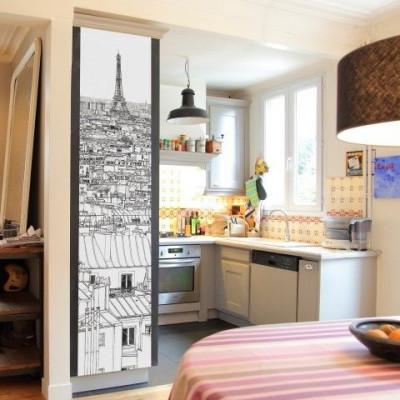 Tapete Vue de Paris Tour Eiffel | Deco
