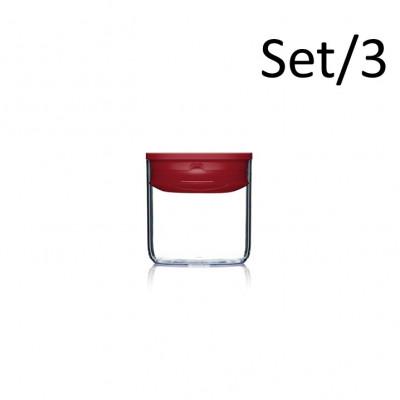 Speisekammer-Box Pantry Rund 3er-Set | Rot