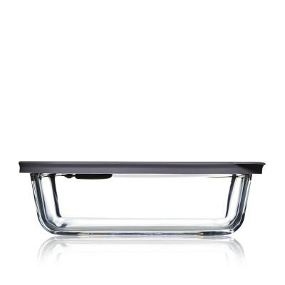 Lebensmittel-Aufbewahrungsbox Cook+ Rechteckig | Grau-60 cl