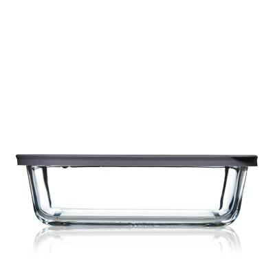 Lebensmittel-Aufbewahrungsbox Cook+ Rechteckig | Grau-100 cl