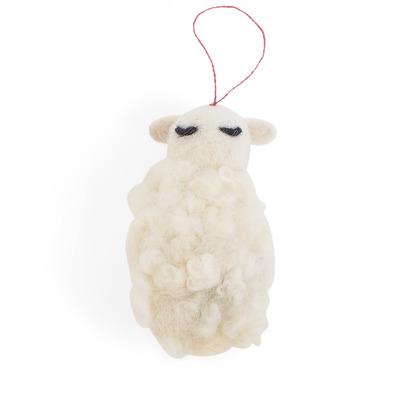Kleiner Hängender Schaf   Weiß