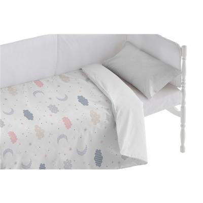 Bettbezug für Kinderbett Moon I Weiß 100x120 + 50x30 cm