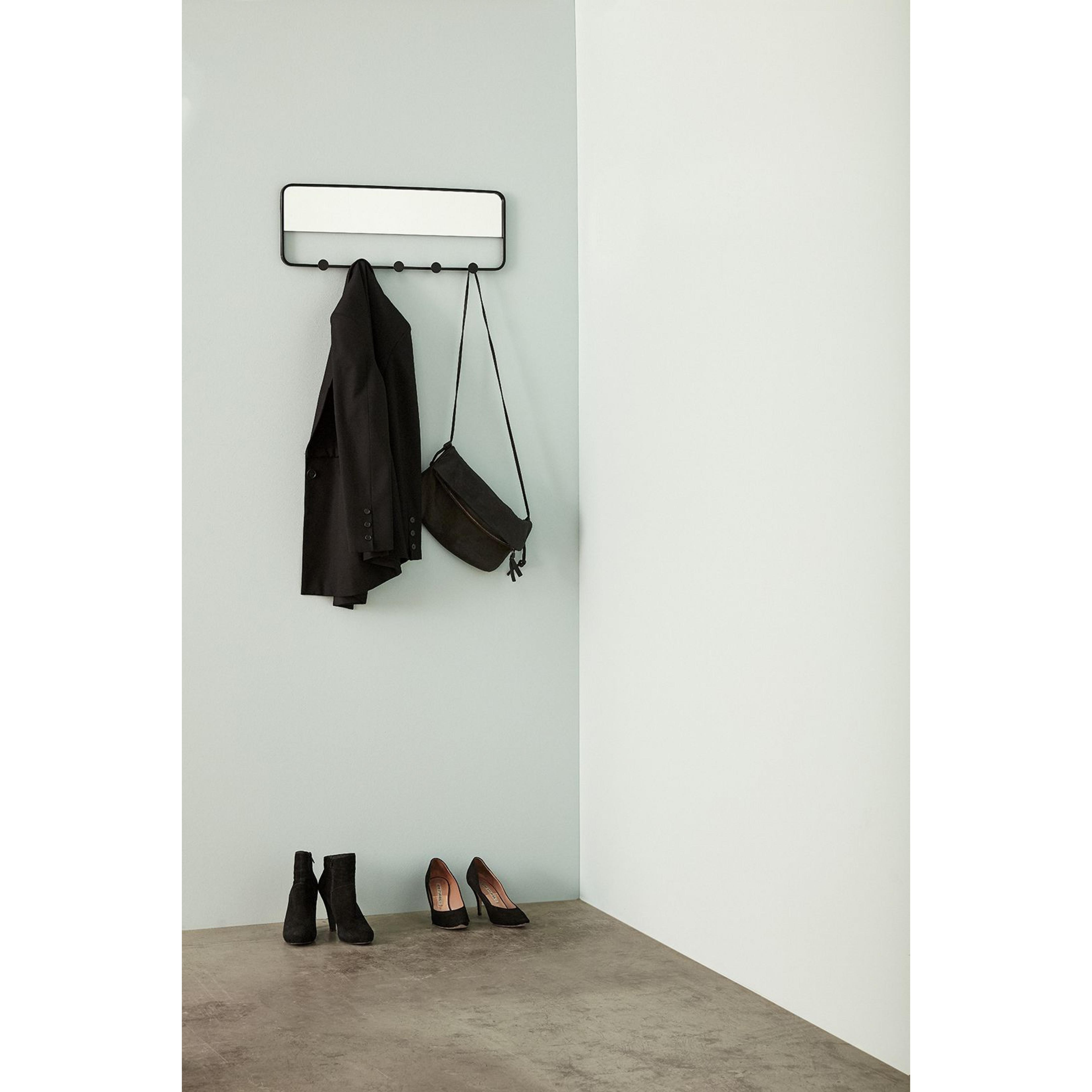 Coat Rack with Mirror & Hooks
