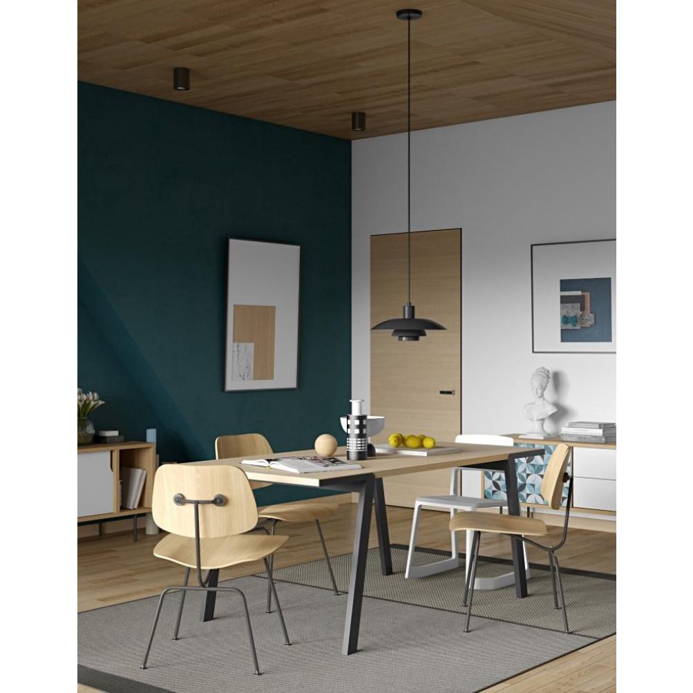 Drift Dining Table   Oak, Black