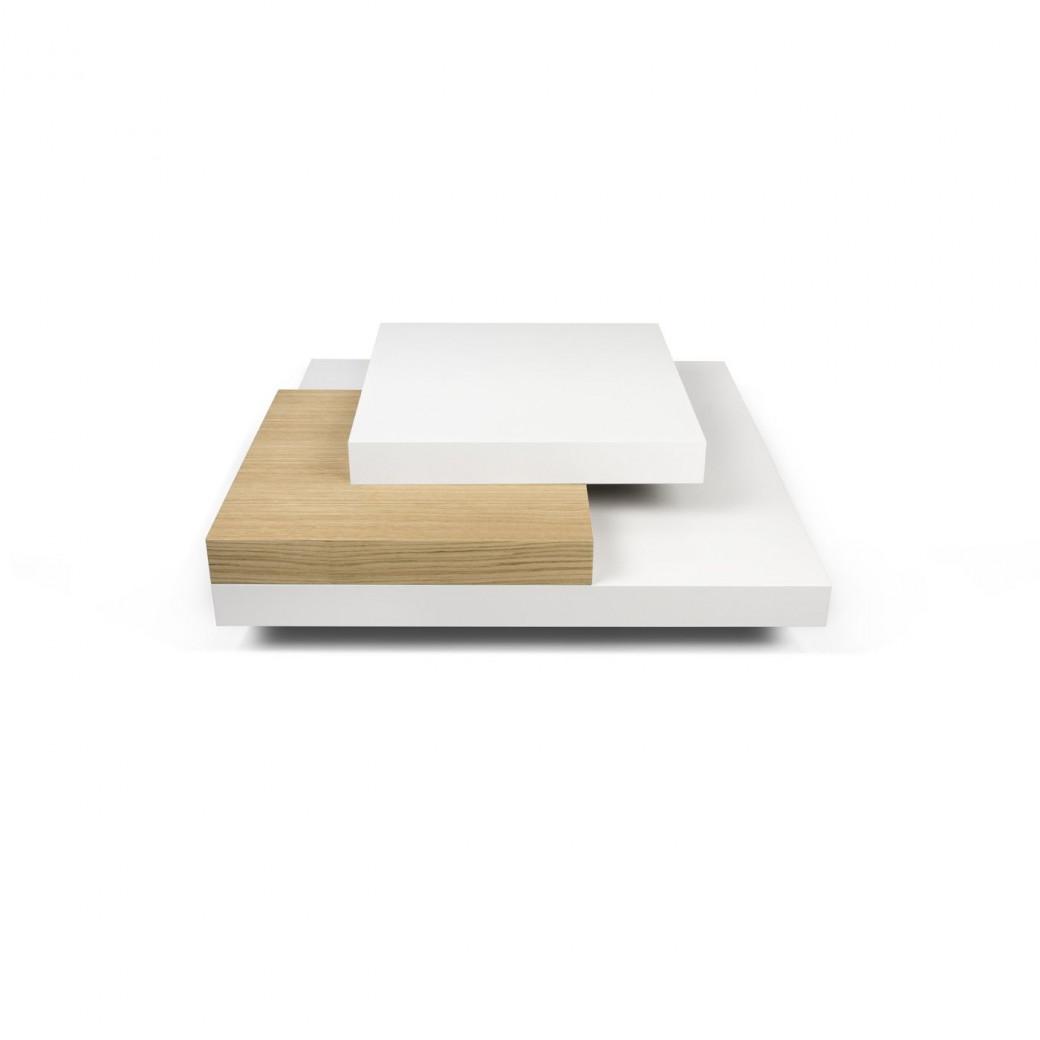 Slate 90 Coffee Table   White/Oak