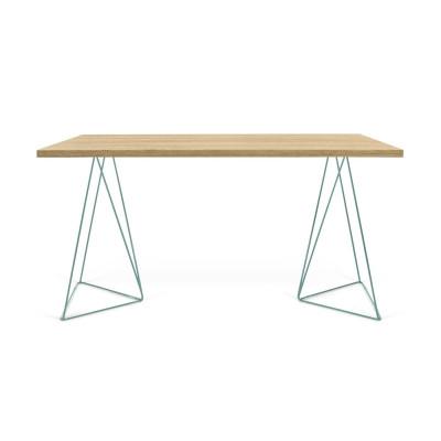 Schreibtisch Flow   Wilde Eiche & Grün