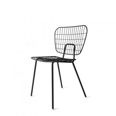 WM String Dining Chair | Schwarz