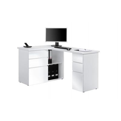 Computertisch 9543 | Icy-Weiß / Weiß Hochglanz
