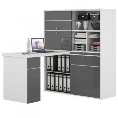 Mini Office 9564 | Icy White / Grey High Gloss