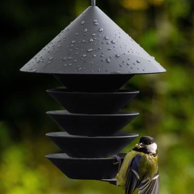 Vogelfutterstation Silo | Grau