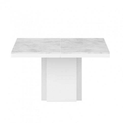 Esstisch Dusk | Platte aus weißem Cararra- Marmor