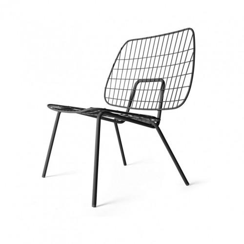 WM String Lounge Chair   Black