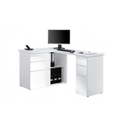 Computertisch 9543   Icy-Weiß / Weiß Hochglanz