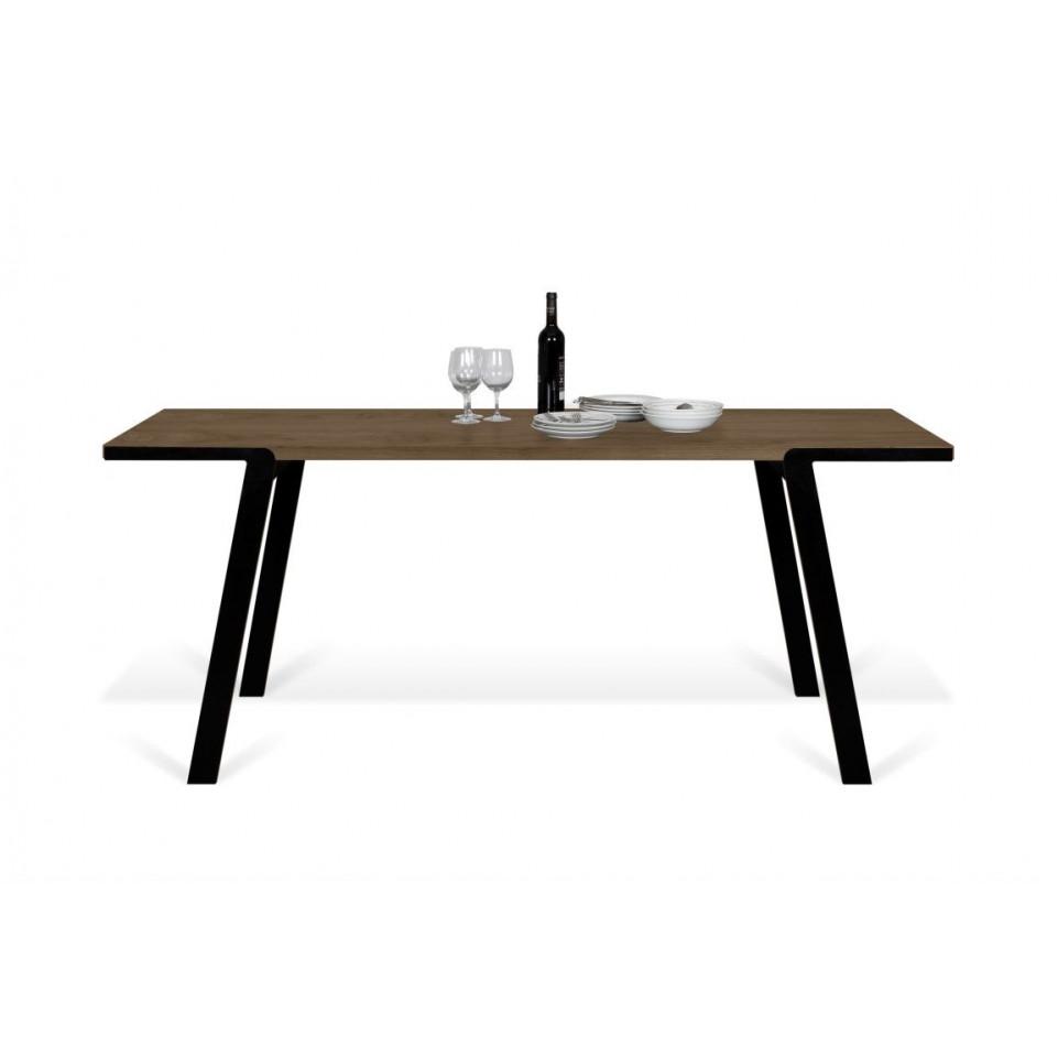 Drift Dining Table | Walnut, Black