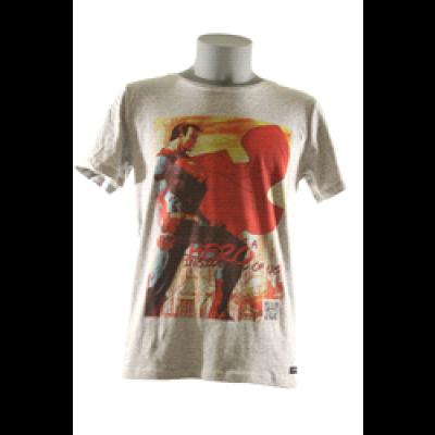 Superman T-Shirt Men Round- Grey