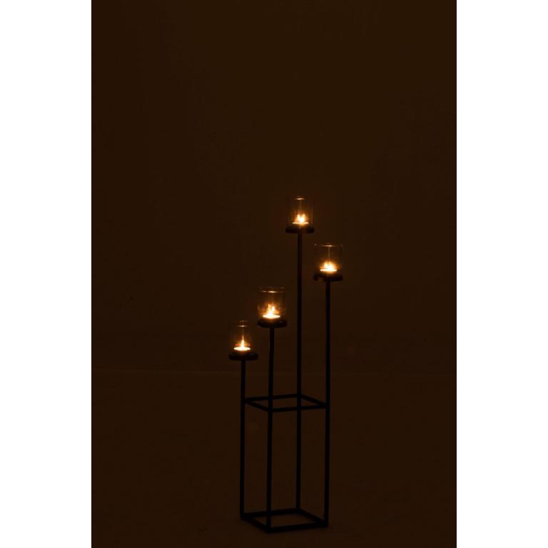 Kerzenständer 4 Kerzen   Schwarz