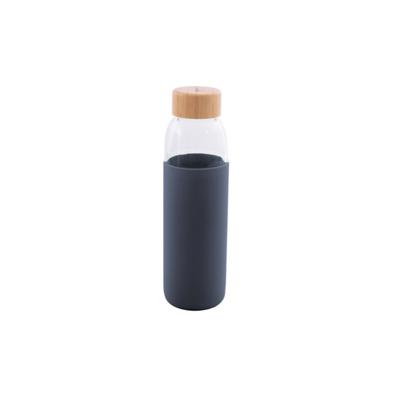 Glasflasche mit Silikonhülle 58 cl I Dunkelblau