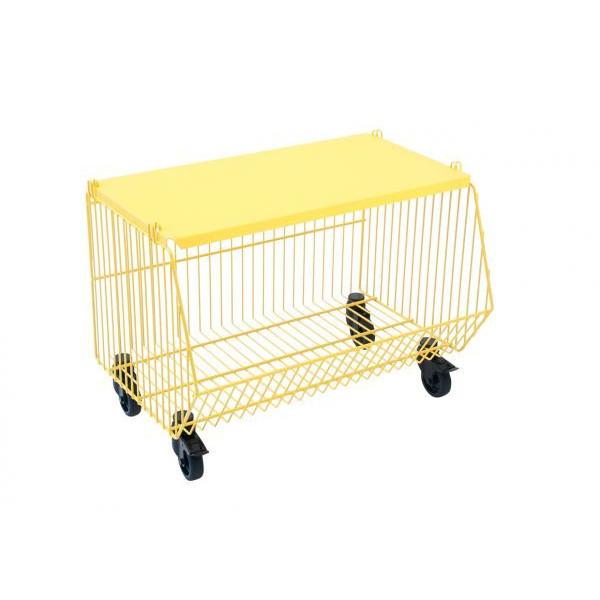Stackable Storage Basket Living Basket   Yellow