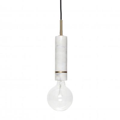 Pendant Lamp   White / Brass