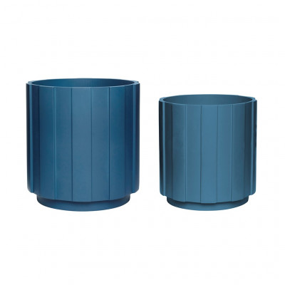 2-er Set Pflanzenhalter | Petrolblau