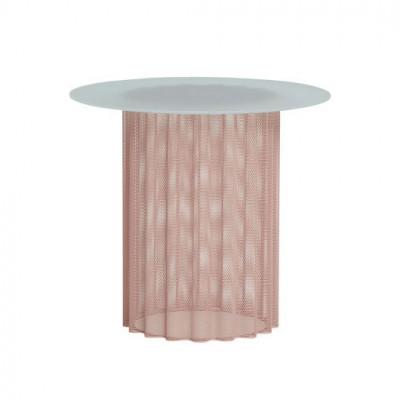 Beistelltisch Glas Metal 45 cm | Nude Mattiert