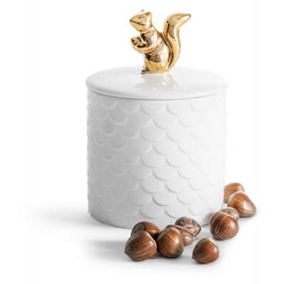 Behälter mit Deckel Eichhörnchen | Gold