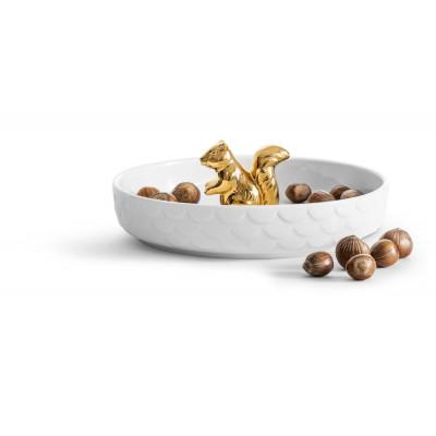 Servierplatte Eichhörnchen | Gold