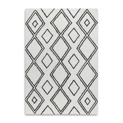 Marokko-Teppich | Grau und Weiß